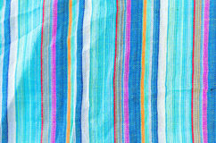 Colorful line patterned fabrics texture background Royalty Free Stock Photos