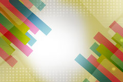Colorful line ribbon on both side, abstract background Stock Images