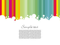 Colorful line sample text Royalty Free Stock Photography