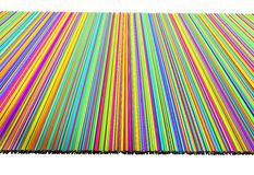 Colorful of line threads curtain, 3d illustration Stock Photos