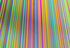 Colorful of line threads, 3d illustration Royalty Free Stock Photography