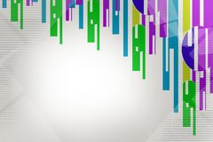 Colorful line from top, abstract background Royalty Free Stock Photo