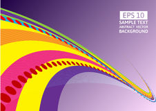 Colorful line wave abstract vector background with copy space.  stock illustration