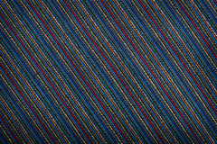 Colorful lined fabric texture Stock Photo
