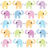 Colorful lined seamless elephant vector Royalty Free Stock Photography