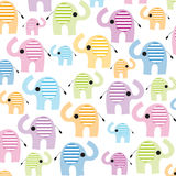 Colorful lined seamless elephant vector Stock Photography
