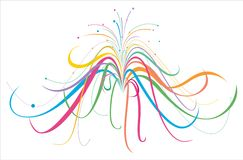 Colorful lines. A flourish of colorful lines on a white background Royalty Free Stock Image