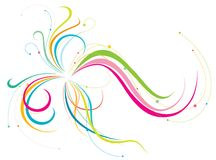 Colorful lines. A flourish of colorful lines on a white background Royalty Free Stock Photos