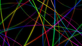 Colorful lines. Colorful spectral lines over black background Royalty Free Stock Images