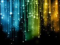 Colorful Lines. Abstract colors with bokeh and lines and sparkles Royalty Free Stock Photo