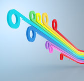 Colorful lines. Abstract colorful 3d lines and curves Stock Photo