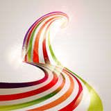 Colorful lines. 3D colorful lines. Vector background Royalty Free Stock Photo