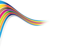 Colorful lines. On the white background Royalty Free Stock Image
