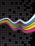Colorful lines. On the black background Stock Photography