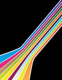 Colorful lines. On the black background Stock Photos