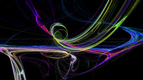 Colorful lines abstract 3d background Stock Photo