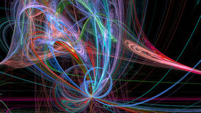 Colorful lines abstract 3d background Stock Photography