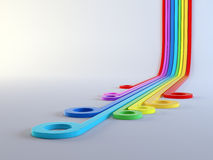 Colorful lines abstract forms Stock Photography