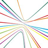 Colorful lines abstract pattern. Abstract pattern from colorful lines on white background royalty free illustration