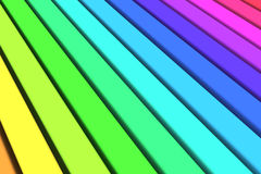 Colorful Lines Background. Colorful plastic surfaces lined up with the rainbow colors Stock Photography