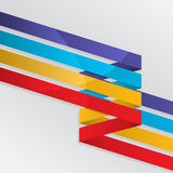 Colorful lines background. Background with four colorful lines Stock Photo