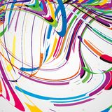 Colorful lines background. Abstract illustration Royalty Free Stock Photography