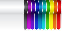 Colorful Lines Background on White Stock Photography