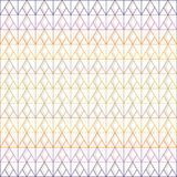 Seamless triangle and diamond pattern of multi-colored lines with gray shadow on white background; vector illustration. stock illustration