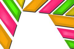 Colorful lines border top side, abstract background Royalty Free Stock Photos