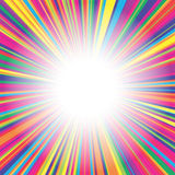 Colorful lines burst background Royalty Free Stock Photography