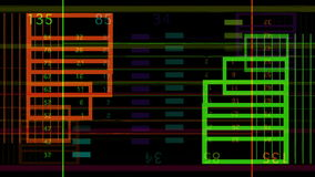 Colorful lines of code stock footage