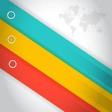 Colorful lines for customization info graphics. Stock Photos