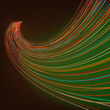 Colorful lines on dark green background. EPS 8 Stock Photography