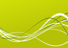 Colorful lines on green Stock Photography