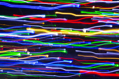 Colorful lines of lights in motion Royalty Free Stock Photos