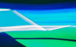 Colorful lines of lights in slow shutter speed, abstract photo royalty free stock images