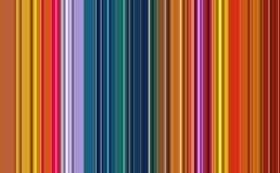 Colorful lines and orange hues, background and pattern royalty free stock images