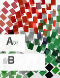 Colorful lines, rectangles and stripes with option infographics. Abstract background Stock Image