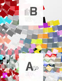 Colorful lines, rectangles and stripes with option infographics Stock Image