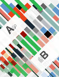 Colorful lines, rectangles and stripes with option infographics. Abstract background Stock Photos