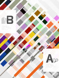Colorful lines, rectangles and stripes with option infographics. Abstract background Stock Photography