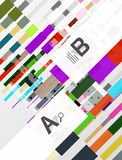 Colorful lines, rectangles and stripes with option infographics Stock Images