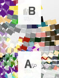 Colorful lines, rectangles and stripes with option infographics Stock Photo
