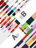Colorful lines, rectangles and stripes with option infographics Royalty Free Stock Photos