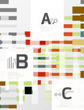Colorful lines, rectangles and stripes with option infographics. Abstract background Royalty Free Stock Images