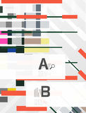 Colorful lines, rectangles and stripes with option infographics Stock Photography