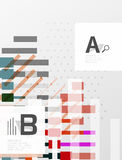 Colorful lines, rectangles and stripes with option infographics. Abstract background Stock Images