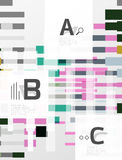 Colorful lines, rectangles and stripes with option infographics. Abstract background Stock Photo