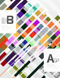 Colorful lines, rectangles and stripes with option infographics Royalty Free Stock Photography