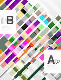 Colorful lines, rectangles and stripes with option infographics Royalty Free Stock Image